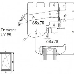 Вентиляционный клапан Trimvent 90 Hi Lift